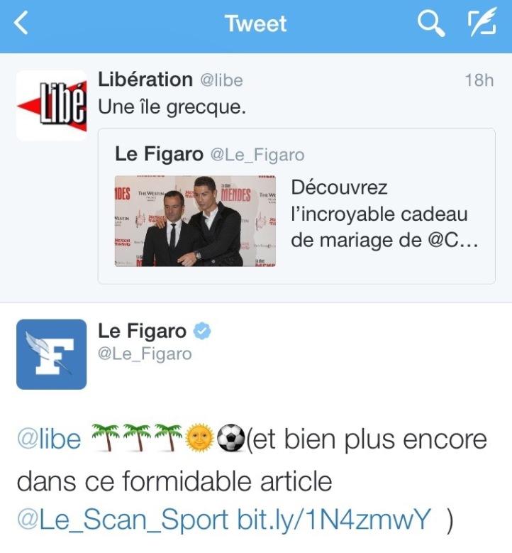 Tweet libération figaro 5